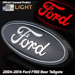 ford emblem blue chrome tailgate