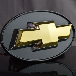 Chevy hitch cover gold chrome