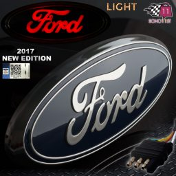 Ford Hitch Cover Chrome Blue