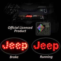 Jeep hitch cover red