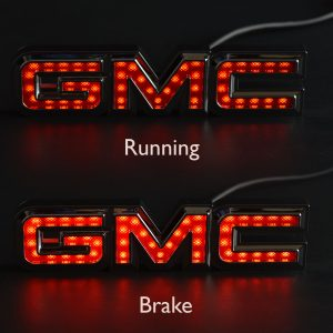 GMC hitch cover running brake