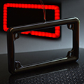 Motorcycle license frame